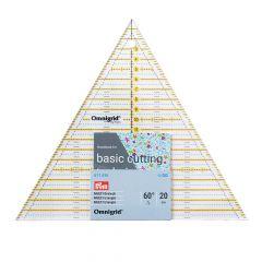 Prym Omnigrid patchwork liniaal driehoek multi 20cm - 3st