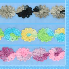 Aanbieding bloemetjesband tule 3x7m - assortiment 1
