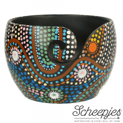 Scheepjes Yarn bowl mango hout 11x12,5cm Dot Painting - 1st
