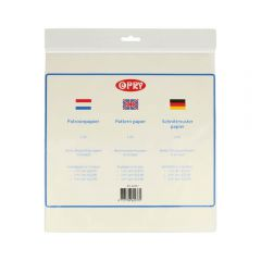 Opry Patroonpapier 1-3m2 transparant - 10st