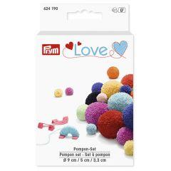 Prym Love pompon set 3,3-5-9cm mint - 3st