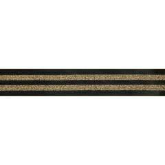 Elastiek gestreept 38mm zwart-goud - 10m