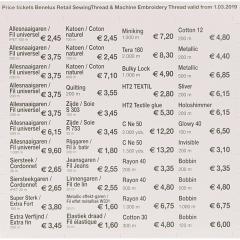 Gütermann Prijsstickers per 1-3-2019 - 1st