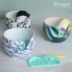 Scheepjes Yarn bowl Blue Leaf onbreekbaar - 1st