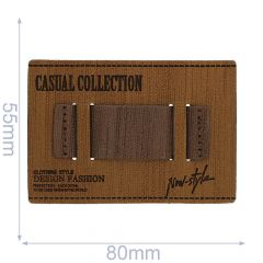 Skai-leren label casual collection 80x55mm - 5st