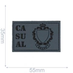 Skai-leren label casual 55x35mm - 5st - 01