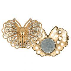 Magnetische broche vlinder 45mm - 3st