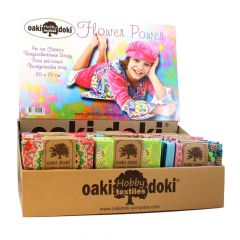 Oaki Doki Quiltstoffen Flower Power 75x50cm - 54st