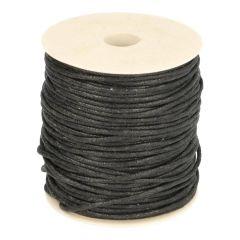 Koord wax zwart 2,2mm - 50m