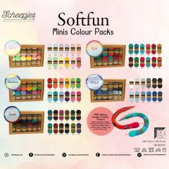 Scheepjes Softfun colour pack 12x20g - 5x2st - AST