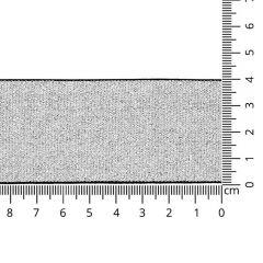 Elastiek zilver lurex 40mm - 10m