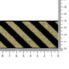 Elastiek schuin gestreept lurex 40mm - 10m