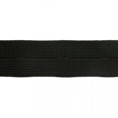 Knoopsgatenelastiek 25-30mm zwart - 50m