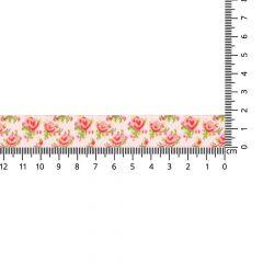Geweven band roosjes 17mm - 24m