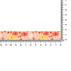 Geweven band bloemen 17mm - 24m