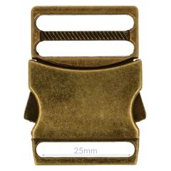 Klikgesp metaal 25mm - 5st