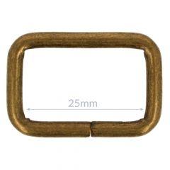 Gesp metaal 25mm - 10st