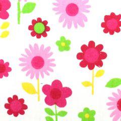 Tissu de Marie Stof bloemen op steel 1.50m - 10m