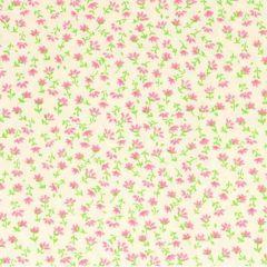 Tissu de Marie Stof bloemen met steel 1.45m - 10m