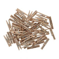 Scheepjes Wasknijpers hout 35-45mm - 50st