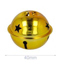 Belletjes met sterren 40-80mm goud - 5-20st