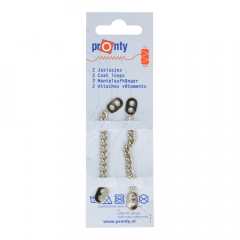 Pronty Metalen jaslussen zilver - 10st
