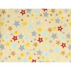 Tissu de Marie Stof flanel sterren 1.15m - 10m