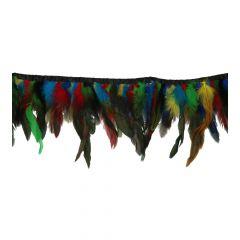 Band met gekleurde veren 9-16 cm - 10m