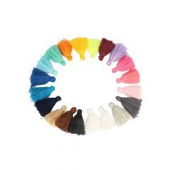 Kwastjes mat 4,5cm lang - 5st x 20 kleuren
