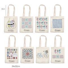 Scheepjes Canvas tas assortiment 8 designs - 1st