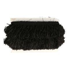 Franje voor omslagdoeken zwart - 25m