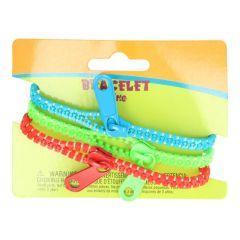 Ritsarmbandje  - 3 armbandjes op een kaartje - 5st