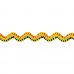 Zigzagband meerkleurig - 25m