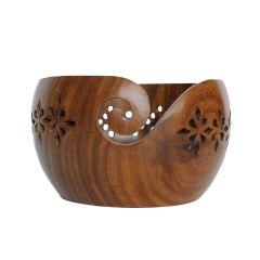 Scheepjes Yarn bowl teakhout glossy ajour - 1st