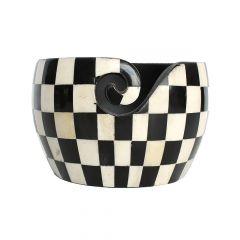 Scheepjes Yarn bowl zwart-wit geruit - 1st