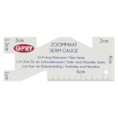 Opry Zoommaat plastic 10x4cm - 10st