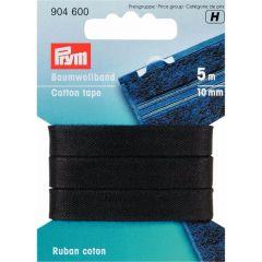 Prym Katoenband 10mm zwart/wit - 5st H
