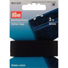 Prym Katoenband 20mm zwart/wit - 5st H