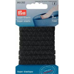 Prym Super elastiek 7mm zwart/wit 3m - 5st I
