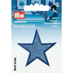 Prym Applicatie sterren jeans middenblauw - 3st   G