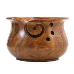 Scheepjes Yarn bowl massief rozenhout - 1st