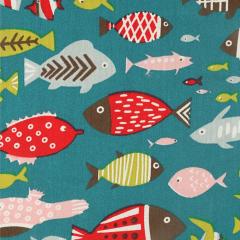Tissu de Marie Stof vissen 1.50m - 10m