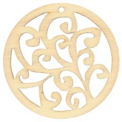 Houten ornament rond 4.5 cm - 10st