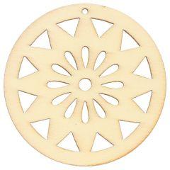 Houten ornament rond 4.7 cm - 10st