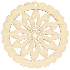 Houten ornament ster 4.8cm - 10st