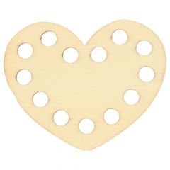 Houten ornament hart 5 cm - 10st