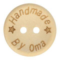 Houten knoop handmade by oma maat 24-32 - 50st