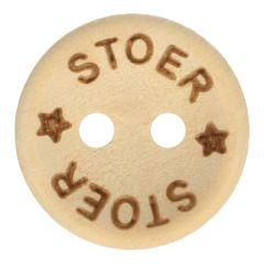 Houten knoop stoer maat 24-32 - 50st