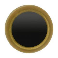 Dierenogen zwart en helder goud 8-12mm - 50st
