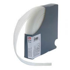 Prym Rimpelelastiek 25-40mm wit - 20m